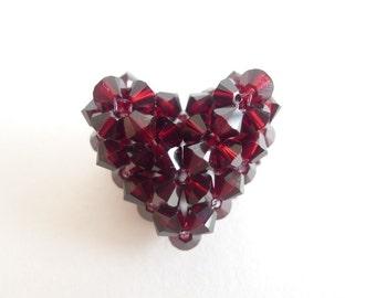 Beaded Puffy Heart V2 Tutorial TWR062