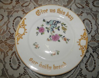 Give Us This Day Our Daily Bread Bavarian Plate