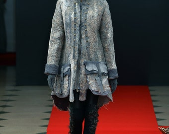 """Felted Coat Template """"Resistance"""" DC FASHION WEEK 2015. For felting with instructions."""
