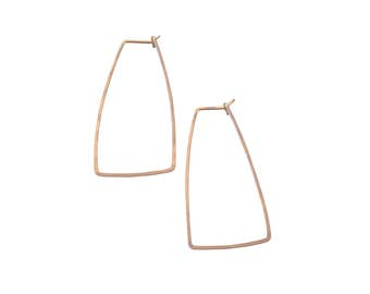 Angle Hoop Earrings