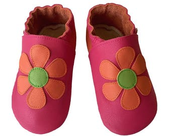 Fuchsia Daisy Shoes, Baby Shoes Girls, Toddler Girl Shoes, Baby Girl Shoes, Leather Baby Shoes, Baby Shoes, Baby Shoes, Handmade Australia