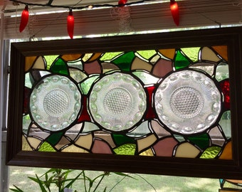 Kitchen Plate Stained Glass Window