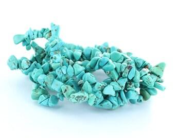 Turquoise Chip Bracelets (Bulk Sale 5 Pcs)