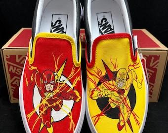 Custom Designed Hand Painted The Flash Vans