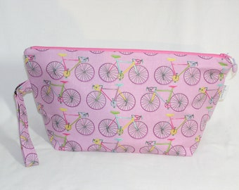 Bikes on Pink Beckett Bag