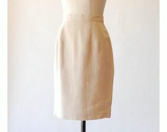 vintage Brooks Brothers Irish linen skirt / size small