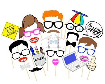 Nerds Rule Photobooth Props | Printable Props