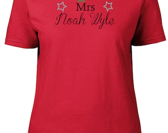 Mrs Noah Wyle. Ladies semi-fitted t-shirt.