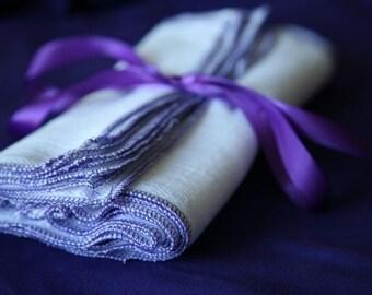 12 Grape Towels birds eye reusable Napkins eco friendly alternative to paper LG