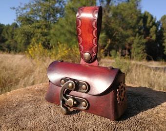 Small purse steampunk leather wallet belt steampunk Belt pouch, purse, Small leather purse, Steampunk purse Belt