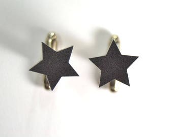 Minimal star cufflinks matte/glossy gift for him groomsman- minimal geometric cuff links