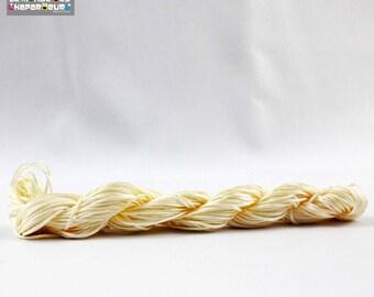 24 meter ecru 1 mm nylon thread, friendship bracelet, woven bracelet
