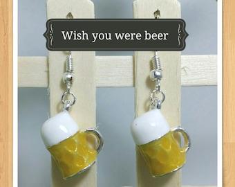 BEER PINT EARRINGS glass stubbie