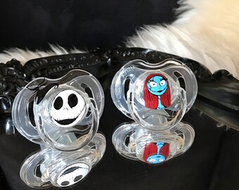 The Nightmare before Christmas Jack Skellington and Sally Avent Baby Pacifier