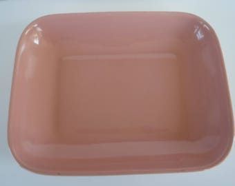 Abingdon Pottery Plate Pink Dish Tray 544