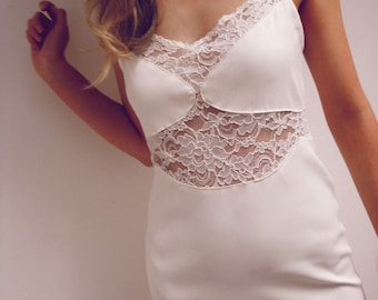 Little White Dress With Lace Details