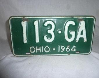 Vintage 1964 Ohio License Plate