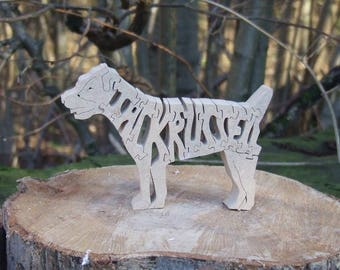 freestanding gift, long distance love, present for dad, Jack Russell, dog decoration, unique dog gift, custom pet gift, dog owner
