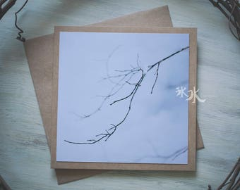 Floral Photo Card - Waiting for spring - Less colors, more feelings..
