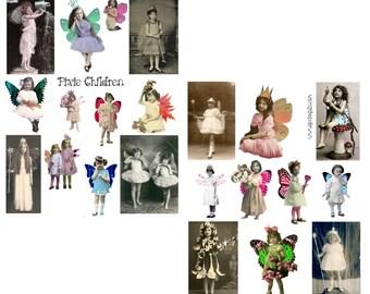 PIXIE CHILDREN digital collage set