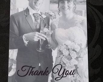 Personalised Wedding Thank You Cards Pack of 10 With Envelopes