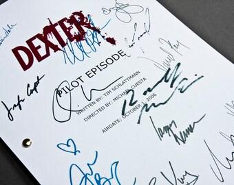 Dexter TV Script with Signatures / Autographs Reprint Unique Gift Present Film Movie Fan Geek Michael C Hall