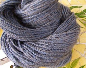 Faded Jeans  Handspun wool yarn 150 yards