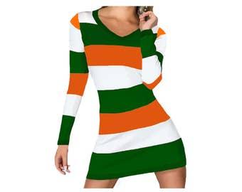 Orange + Green Stripe Spirit Dress