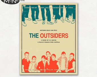 THE OUTSIDERS Movie Poster, Fine Art Print (beige version)