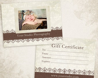 Photography Gift Certificate photoshop template - ID046, Instant Download