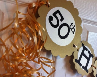 50th Anniversary Party Decorations Personalization Available