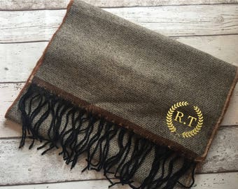 Personalised scarf for men | gift for her | christmas gift | brown scarf
