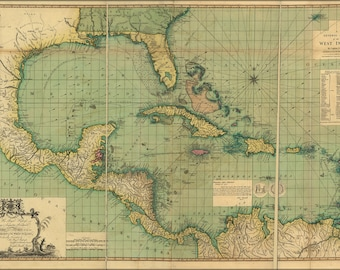 Poster, Many Sizes Available; General Chart Map Of The West Indies 1796