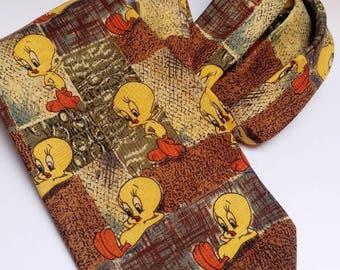 Vintage Looney Tunes Tweety tie