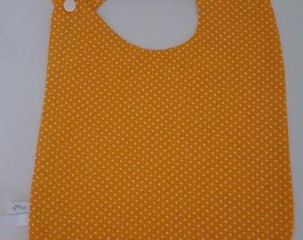 """Large bib size unique yellow """"confetti"""" polka dots"""