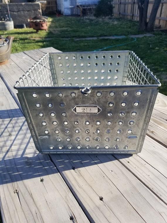 Vintage Wire Baskets with Metal Number Tag Vintage