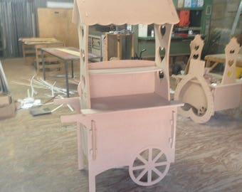 Large Candy Cart Wedding Birthday Party Cart Sweet Cart (Unique Hinged System)