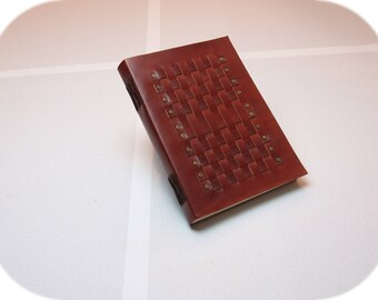 Woven Leather Diary - Sketchbook - Journal -  *Handmade* - A5