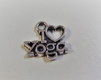14*14mm I love Yoga Charms, (Y60)