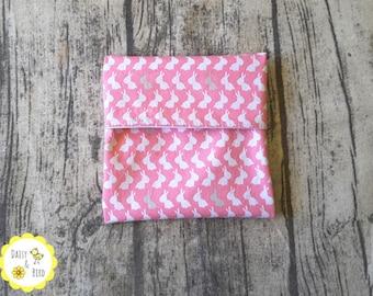 Mini Wet Bag / Pad Wrapper  - Bunnies