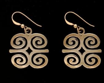 Adinkra Symbol Earrings (Dwennimmen)