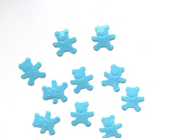 BLUE Baby Bear Confetti- baby shower decoration, gender reveal confetti