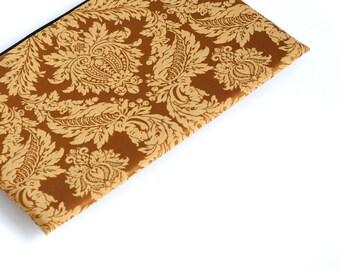 VENTE ! MacBook 15 Pro cas Laptop Sleeve capitonné, tissu Macbook couvre sac brun ornements d'or