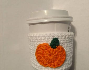 Pumpkin Cup Cozy. Made to order.
