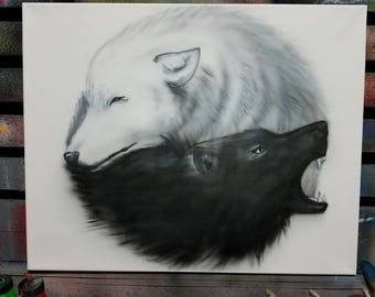 """Create your own Custom airbrushed canvas - 16""""x20"""""""