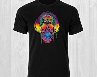 Headphone Skull / DJ 14 - Music DJ Man T-shirt