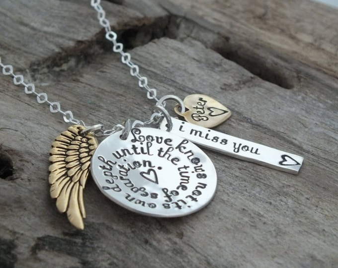 Memorial necklace sterling silver | In loving memory | In memory of sympathy gift | Remembering a loved one | Loved ones lost | Jewellery