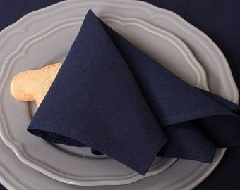 Table Cloth   10pcs   Napkins  Table Linens   Cloth Napkins Bulk   Dark Blue Napkins   Linen Cotton Napkins   Dinner Napkins   Set   Natural