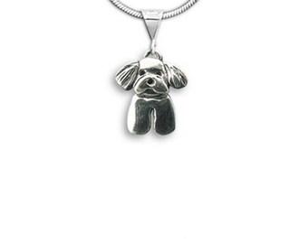 Silver Maltese Puppy Pendant