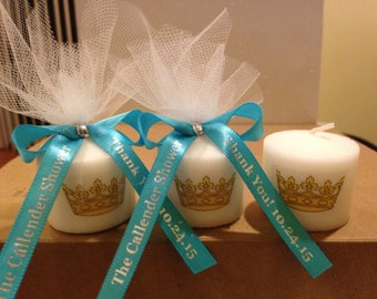 Royal prince Favors, crown themed, Prince themed shower, royal and gold themed shower favors, Baptism , Holy Communition Favors